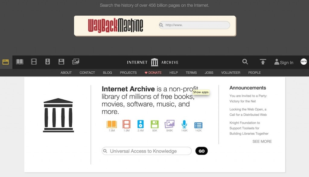 Where would we be witout the  Internet Archive?